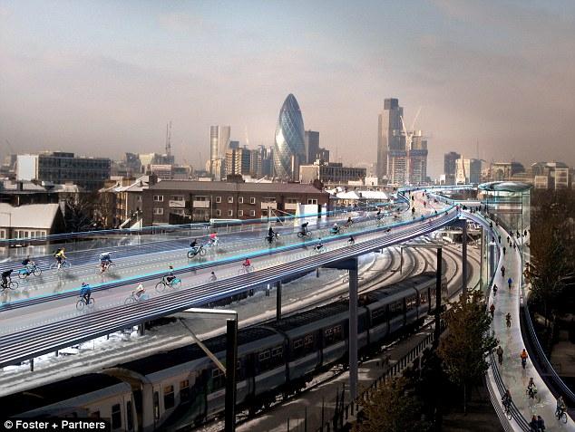 Londýn plánuje cyklotrasy v oblakoch.