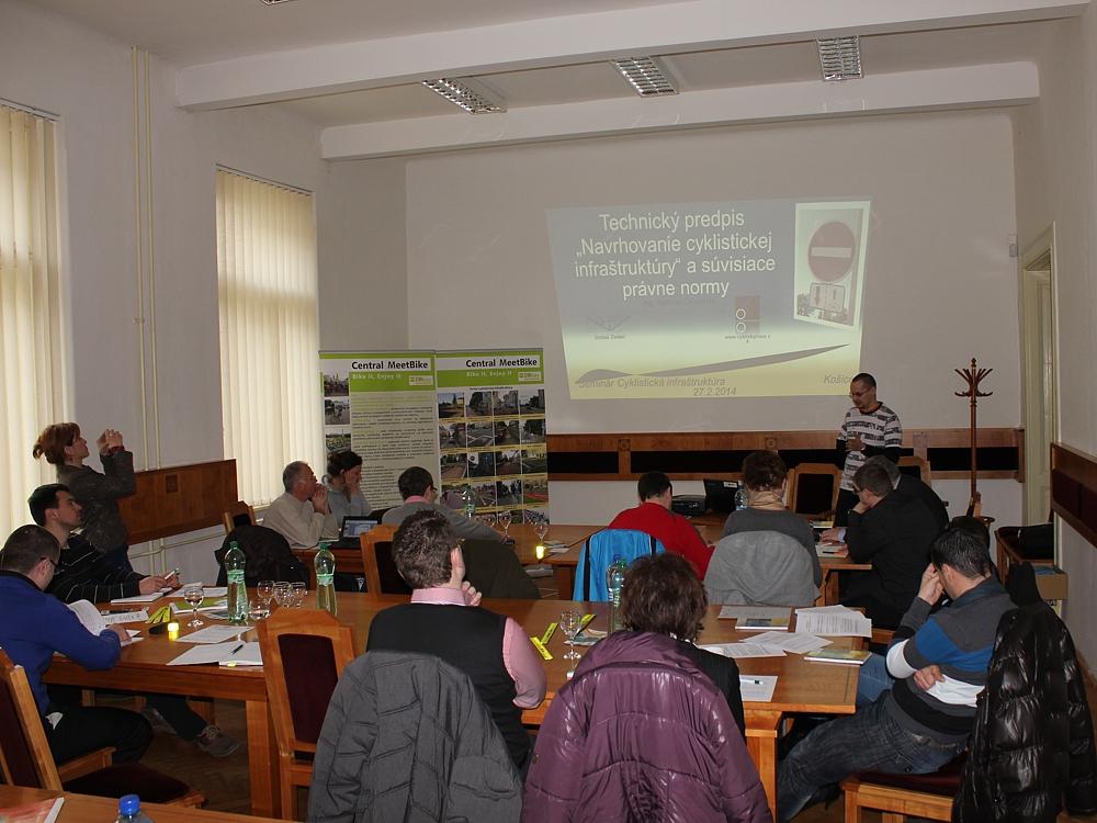 Seminár cyklistická infraštruktúra v Košiciach