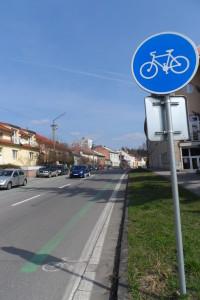 cyklopruh na Sokolskej vo Zvolene