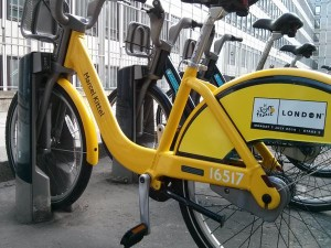 TDF bikesharing London