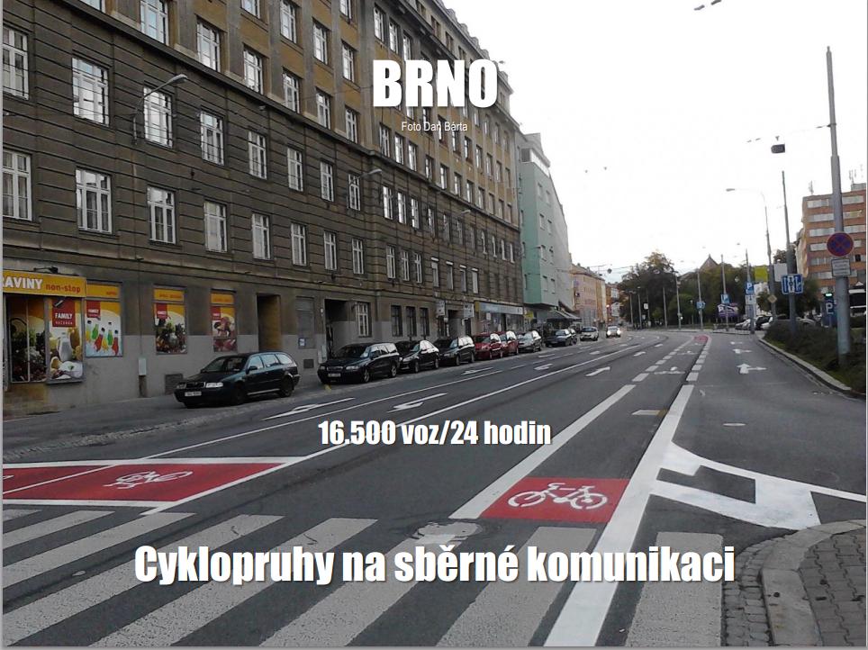 Brno – príklad cykloopatrení