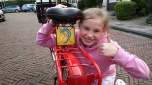znak pre nepocujucich cyklistov z Holandska