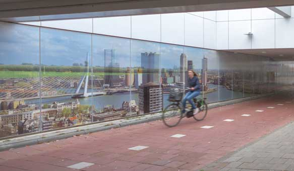 Rekonštrukcia cyklopodchodu Capelsebrug v Rotterdame