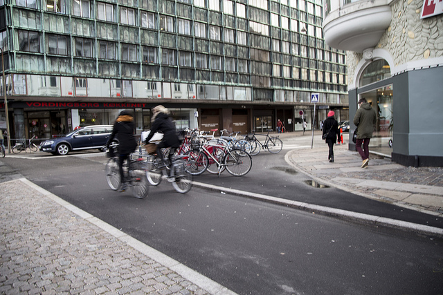 V Kodani redizajnovali uličný priestor pre parkovanie bicyklov.