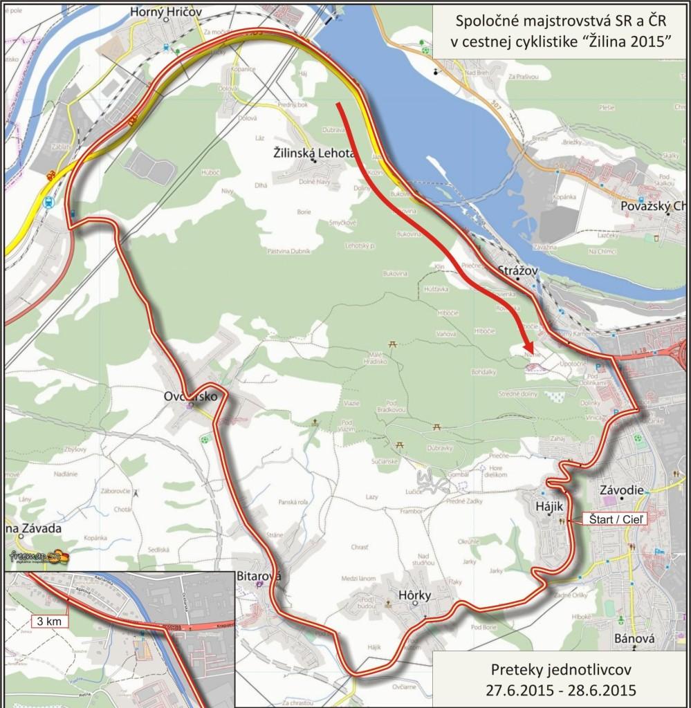 Pozvánka na spoločné Majstrovstvá Slovenskej a Českej republiky v cestnej cyklistike