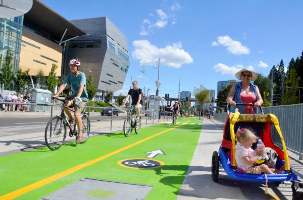Zelené riešenie z Portlandu na spoločné cyklochodníky.