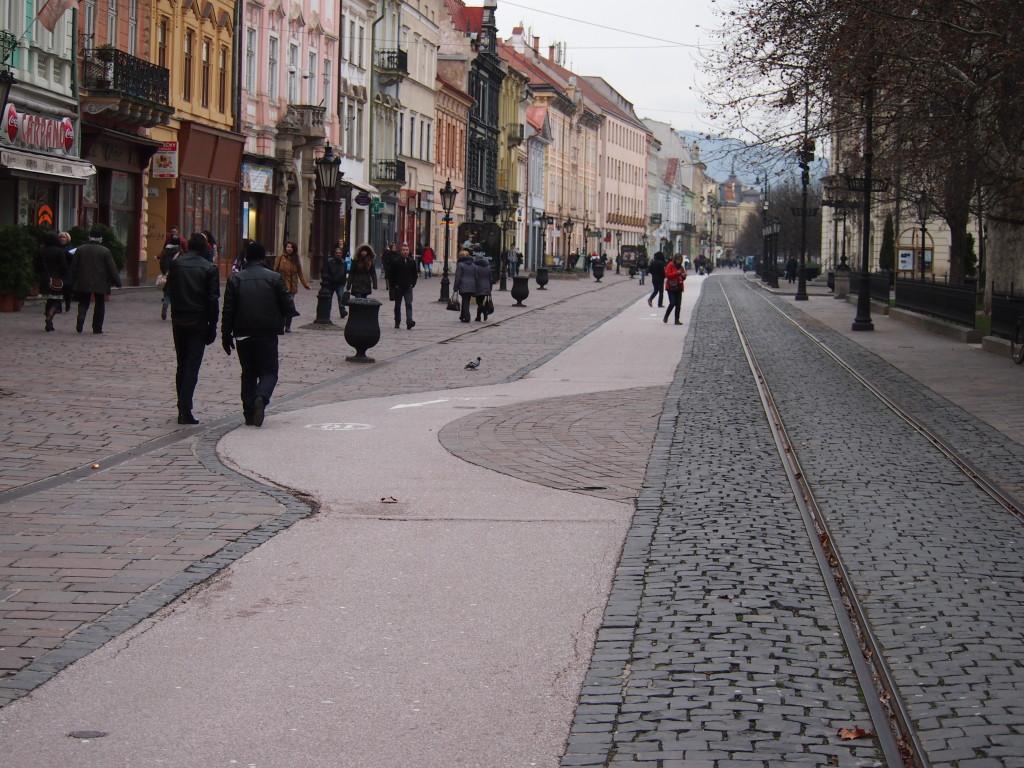 Mesto Košice ide prehodnocovať cyklochodník v pešej zóne.