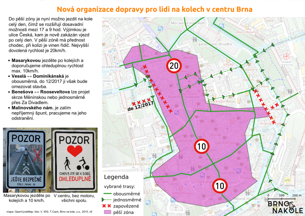 Brno otvorilo centrum cyklistom.