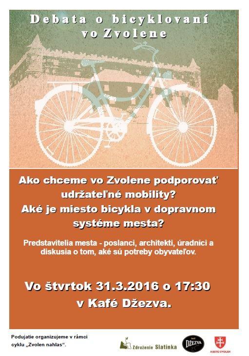 Pozvánka na diskusiu do Zvolena: Patria bicykle do mesta?