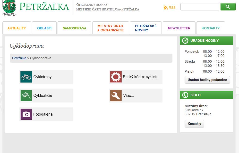 Petržalka chce informovať obyvateľov o rozvoji cyklodopravy.