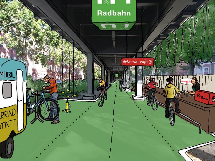 V Berlíne uvažujú nad využitím priestoru pod železnicou na cyklotrasu.