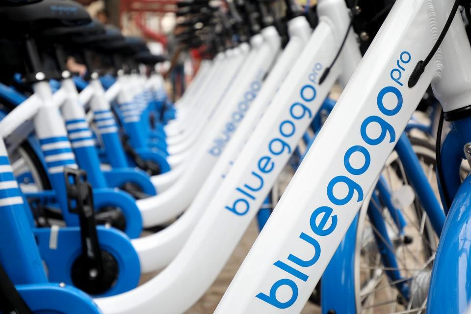 Bluegogo čínsky bikesharing,ktorý dá do ulíc 70 tisíc bicyklov za mesiac