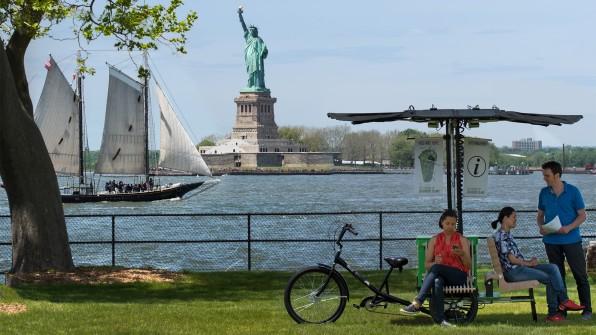 V New Yorku testujú mobilné cyklo oddychové zóny