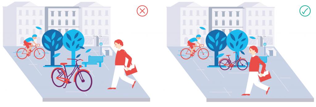 Viedeň vytvorila etiketu na správne parkovanie bicyklov