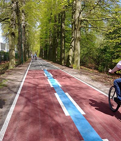 Nové dvojité značenie cyklotrás v Utrechte