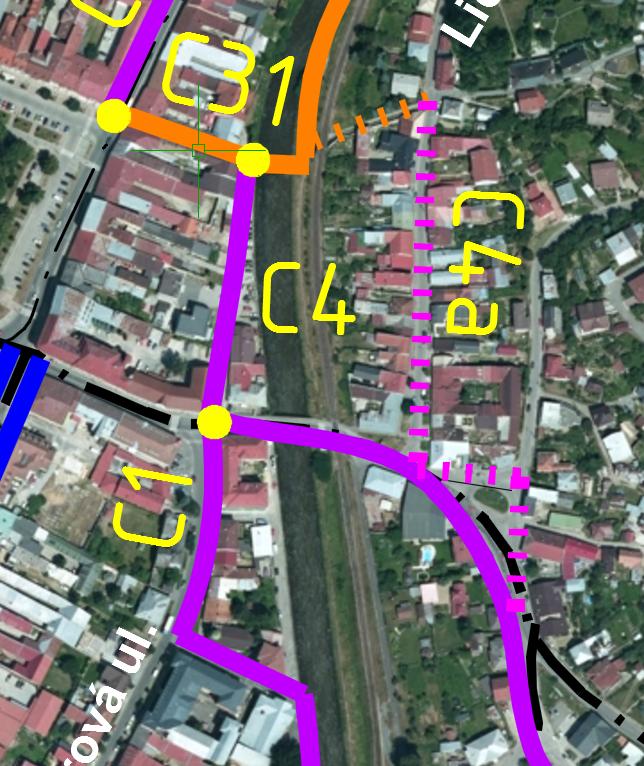 Navrh cyklistických komunikácií v meste Brezno – 2.časť