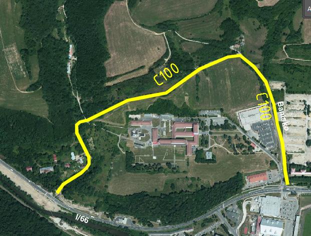 Navrh cyklistických komunikácií v meste Brezno – 3.časť (mestské cyklistické trasy)