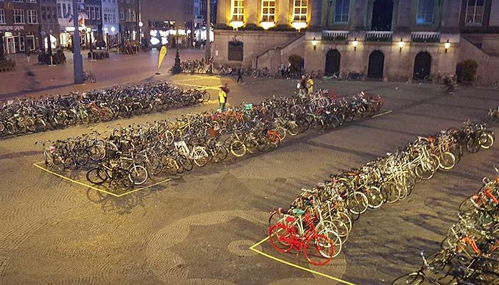 Pop up parkoviská pre bicykle môžu pomôcť prilákať cyklistov.