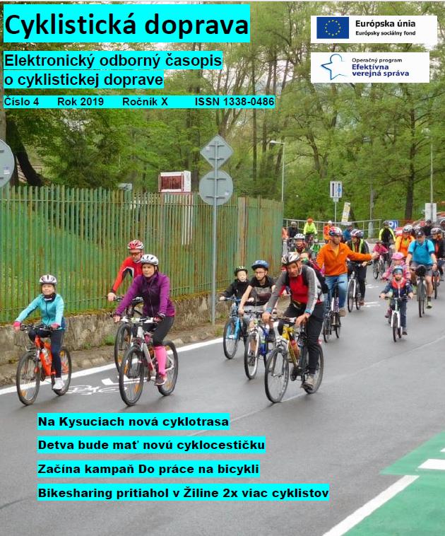 Aprílové číslo Cyklistickej dopravy 2019