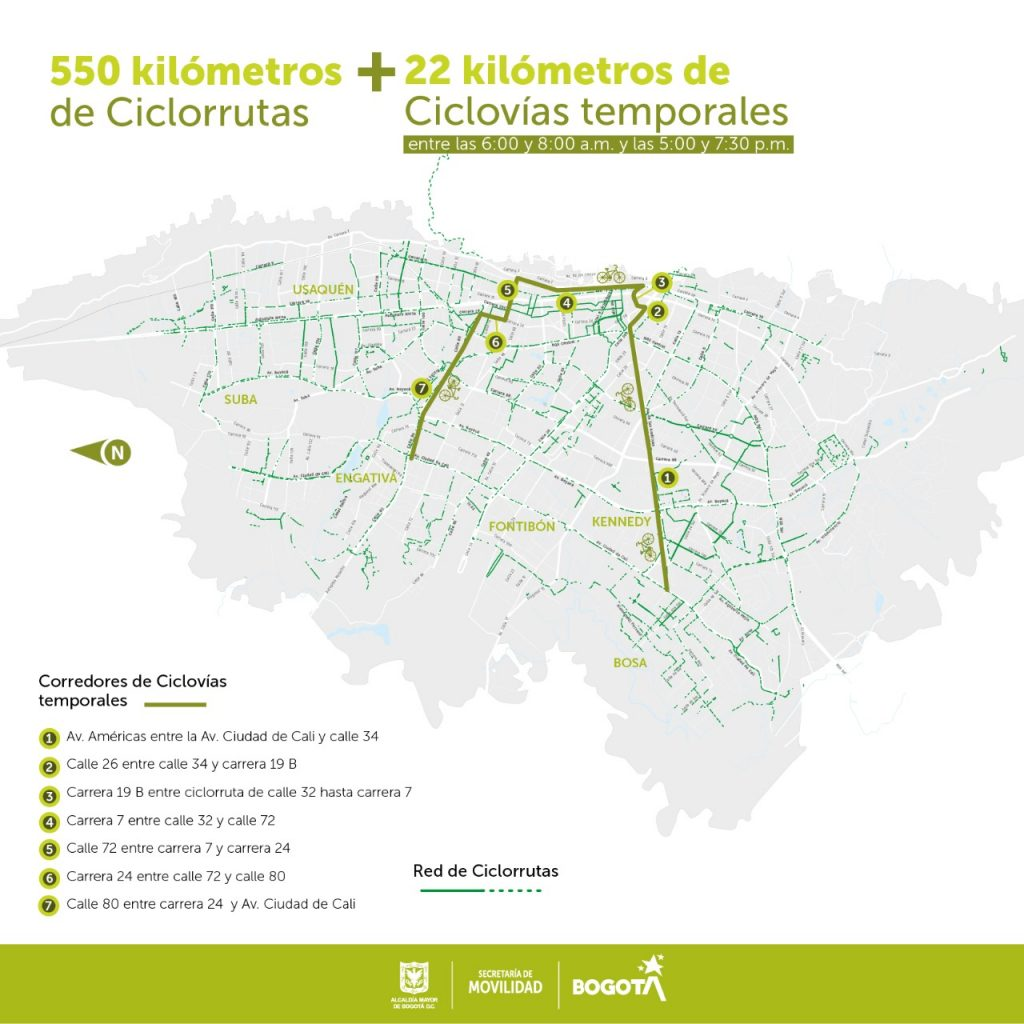 Bogota kvôli korone rozšírila sieť cyklistických komunikácií
