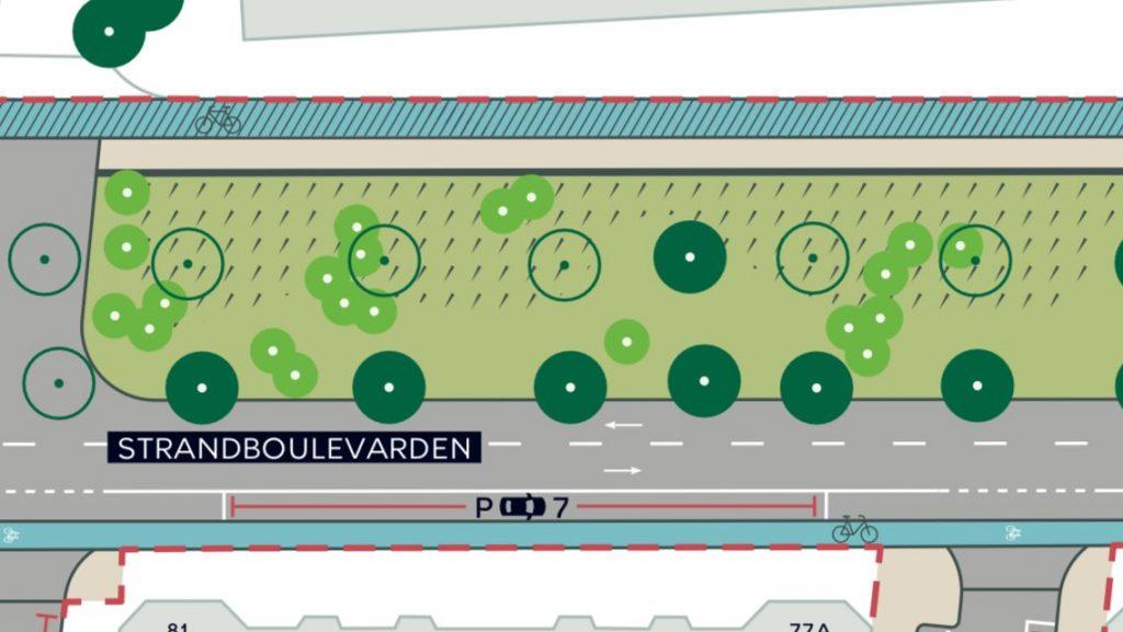 Kodaň plánuje zredukovať 6 pruhovú cestu na 2 pruhovú