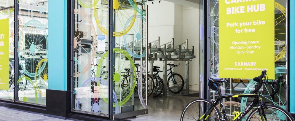 Nový bike hub v Carnaby London