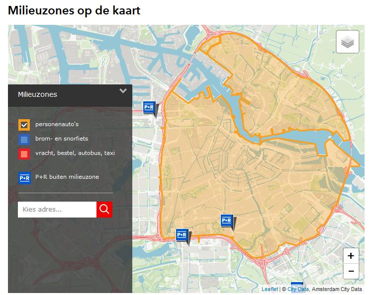 Amsterdam od 1.novembra zaviedol novú emisnú oblasť