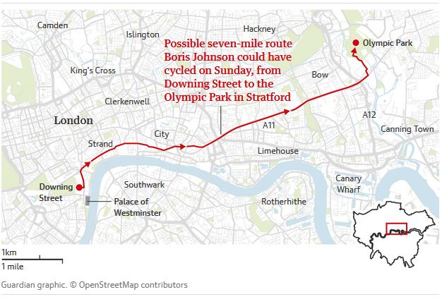 Britský premiér sa bicykloval ďalej ako mal