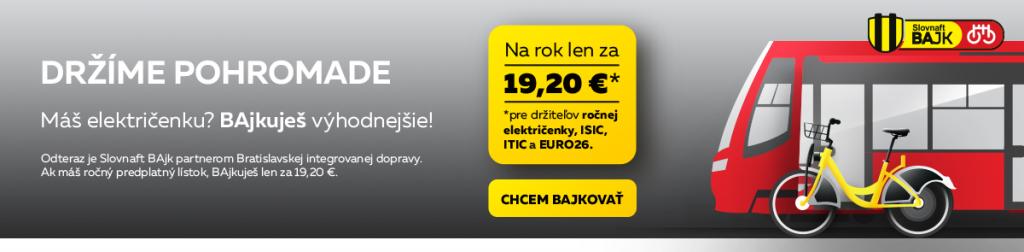 Aj Bratislavský Slovnaftbajk sa stal súčasťou Bratislavskej integrovanej dopravy